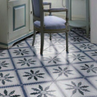 Cement floor tiles optics