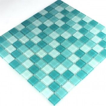 Mosaic Tiles Glass Green Mix 25x25x4mm