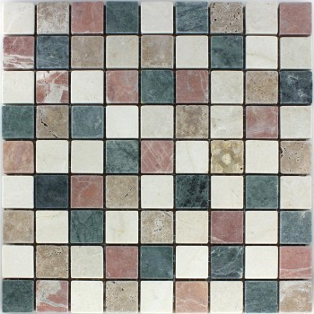 Mosaic Tiles Marble Natural Stone Cotto Beige Green Noce