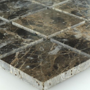 Mosaic Tiles Marble Brown Polished 48x48x7,5mm