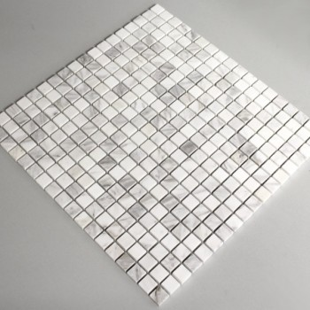 Mosaic Tiles Marble 15x15x8mm White Polished