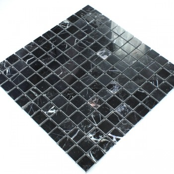 Mosaic Tiles Marble 23x23x8mm Black Polished