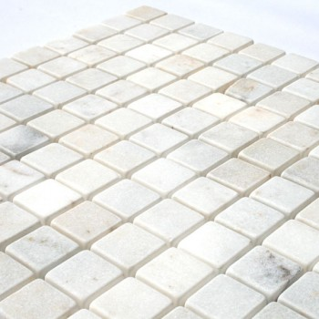 Mosaic Tiles Marble 26x26x10mm White