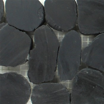 River Pebbles Border 10x30cm Anthracite Pebble
