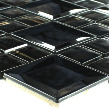 Mosaic Tiles Stainless Steel Metal Black
