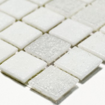 Mosaic Tiles Glass White Mix