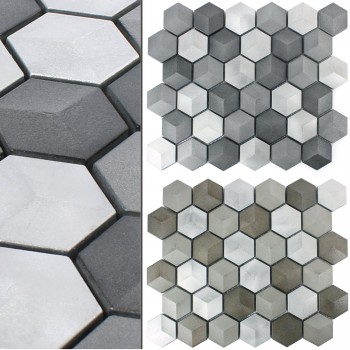 Metal Aluminium Mosaic Tiles Hexagon Kandilo