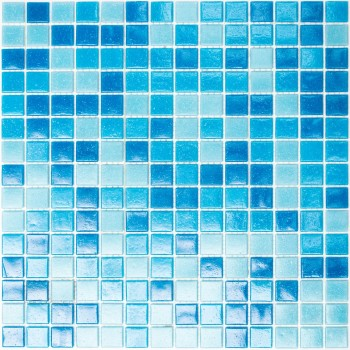Swimming Pool Mosaic Pazifik Pasted on Paper