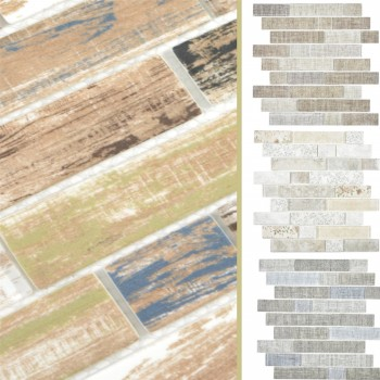 Glass Mosaic Tiles Lyonel Brick