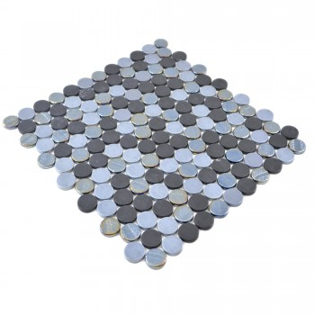 Glass Mosaic Tiles Albany Round Color Mix