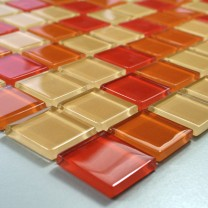 Mosaic Tiles Glass Valencia Red Orange