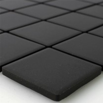 Mosaic Tiles Ceramic Black Uni Non Slip Unglazed