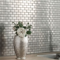 Mosaic Tiles Stainless Steel Silver