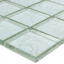 Mosaic Tiles Glass Lucca Silver 48x48x8mm