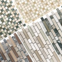 Mosaic Tiles Milos Glass Natural Stone Mix