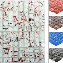 Glass Mosaic Tiles Ordabay Striped