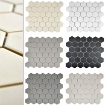 Ceramic Mosaic Tiles Begomil Hexagon Unglazed