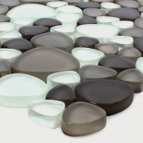 Glass Mosaic Tiles Usedom Brown Beige
