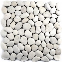 Mosaic Tiles River Pebbles Natural Stone Doha White