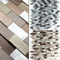 Mosaic Tiles Aluminium Metal Langley 3D