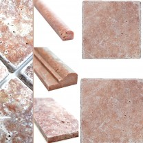Natural Stone Tiles Travertine Usantos Rosso