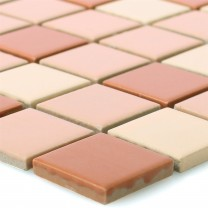 Mosaic Tiles Ceramic Brown Mix