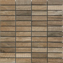 Mosaic Tiles Wood Optic Porcelain Stoneware Emparrado Brown