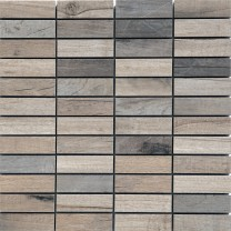 Mosaic Tiles Wood Optic Porcelain Stoneware Emparrado Lachs