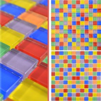 Glass Mosaic Tiles Ararat Colored