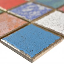 Ceramic Mosaic Tiles Oriente Retro Optic Colored