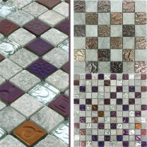 Mosaic Tiles Sheldrake Natural Stone Glass Mix