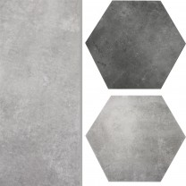 Floor Tiles Halesia Stone Optic Hexagon 52x60cm