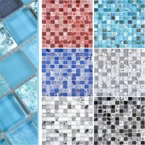 Glass Mosaic Tiles Cornelia Retro Optic