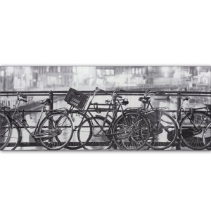 Amsterdam Decor Glass Effect Tiles Fahrrad 20x50cm