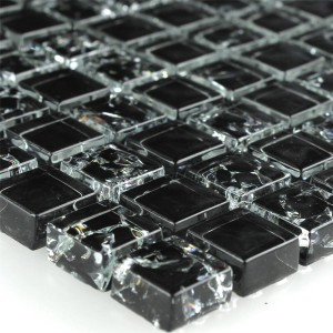Mosaic Tiles Glass Tokio Effect Black
