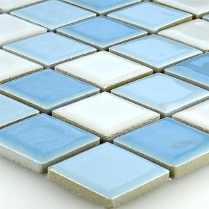 Mosaic Tiles Ceramic Blue White 25x25x5mm