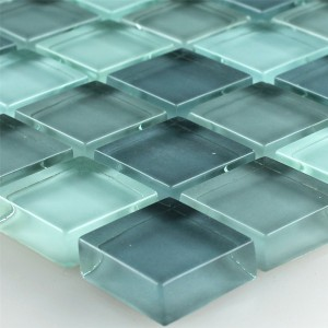 Mosaic Tiles Glass Light Grey 23x23x8mm
