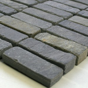 Mosaic Tiles Slate 15x48x8mm Anthracite
