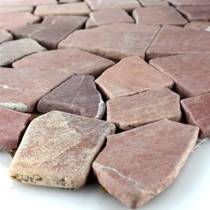 Mosaic Tiles Broken Marble Rosso Palermo