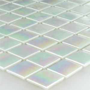 Mosaic Tiles Glass Nacre Effect 20x20x4mm White