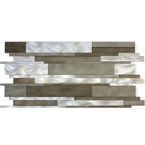 Aluminium Metal Mosaic Talara Mud Mix 300x600mm