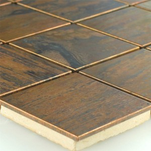 SAMPLE Copper Design Mosaic Tiles 48x48x8mm