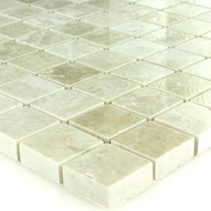 Mosaic Tiles Marble Beige Polished 26x26x10mm