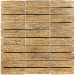 Mosaic Tiles Wood Optic Denver Brown 27x98x10mm