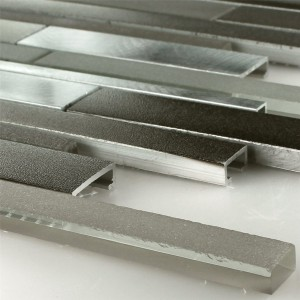 Aluminium Glass Design Mosaic Mud Stick