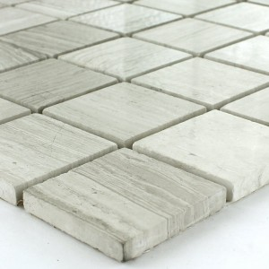 Limestone Marble Mosaic Grey Mix Polished 48x48x8mm