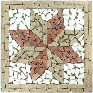 Marble Rosone 33x33x8mm Brown Rosso White