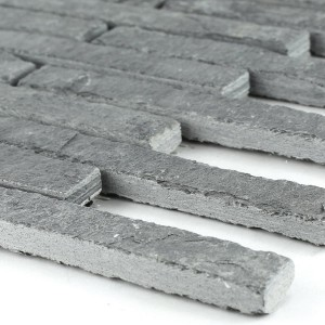 Mosaic Tiles Natural Stone Quartzite Anthracite Stick