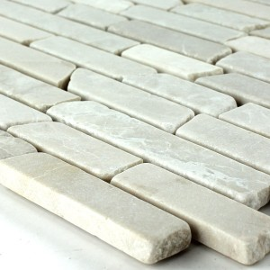 Mosaic Tiles Marble Beige Sticks 6mm