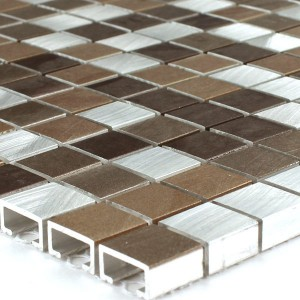 Mosaic Tiles Aluminium Copper Mix 15x15x8mm